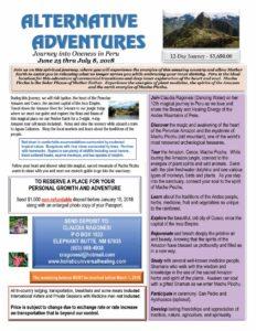 Alternative Adventures - Journey to Peru in 2018